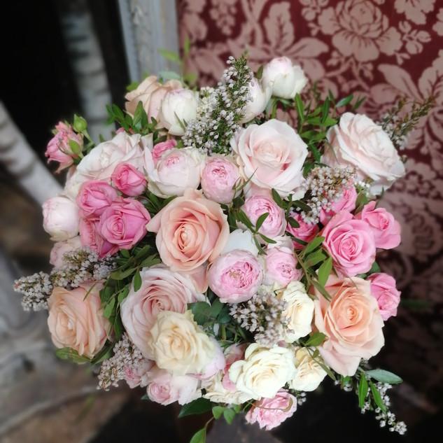 bouquet pastel délicat