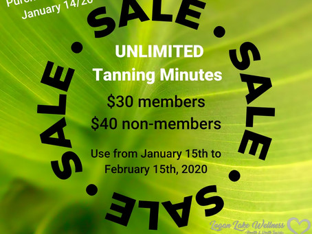 Tanning Minutes on SALE