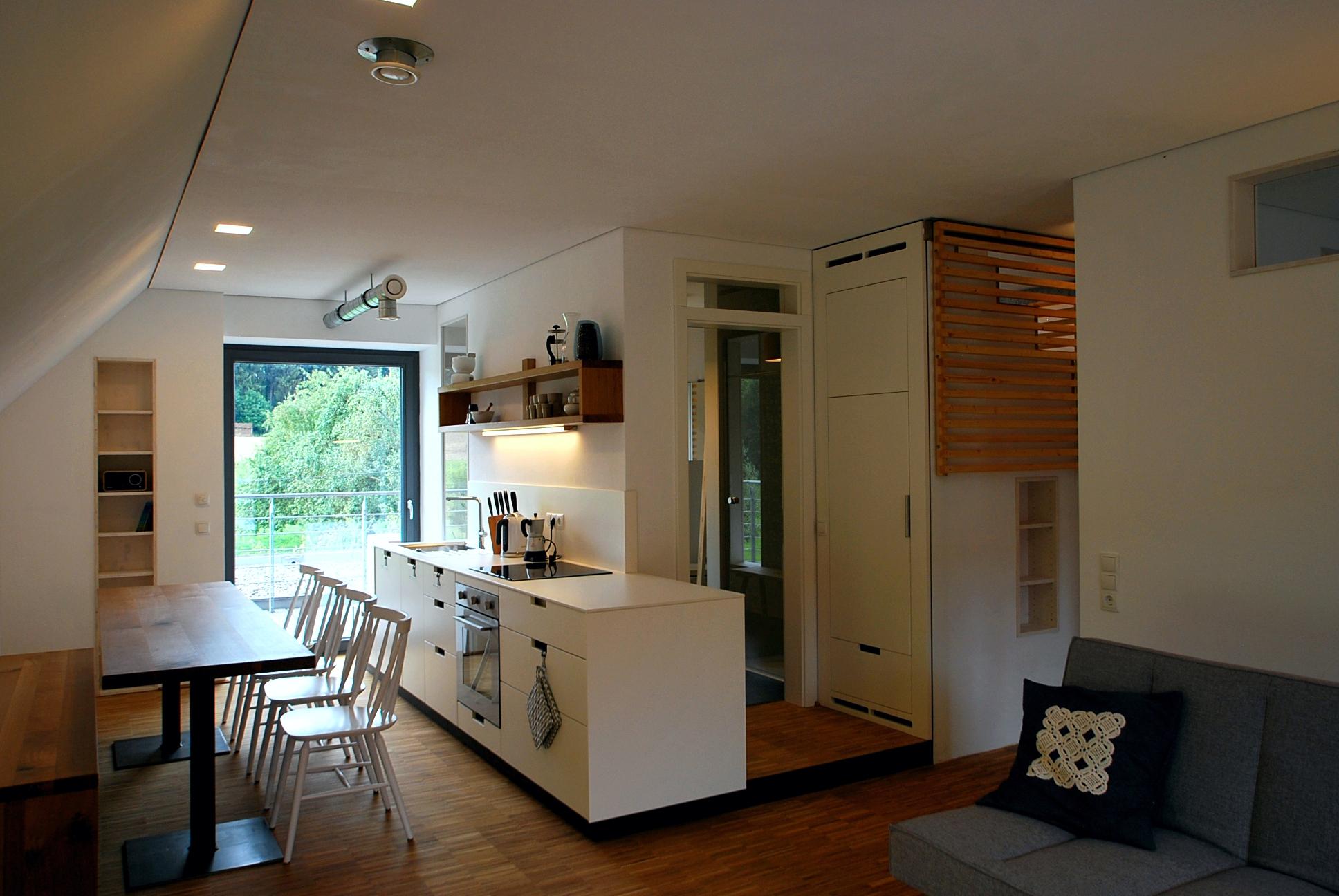 Individuelle Küche in Ferienwohnung