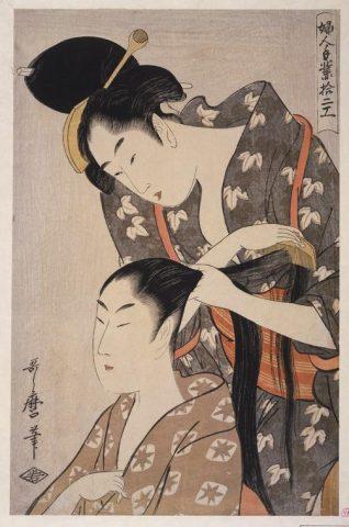 Kitagawa Utamaro, Hairdresser, c