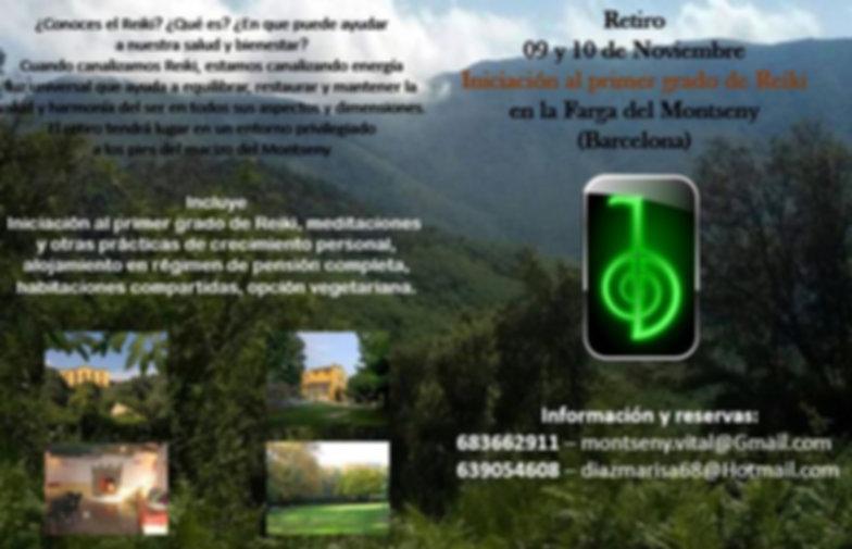Montseny Montsenyvital Reiki Iniciación Grado Maestría Maestro