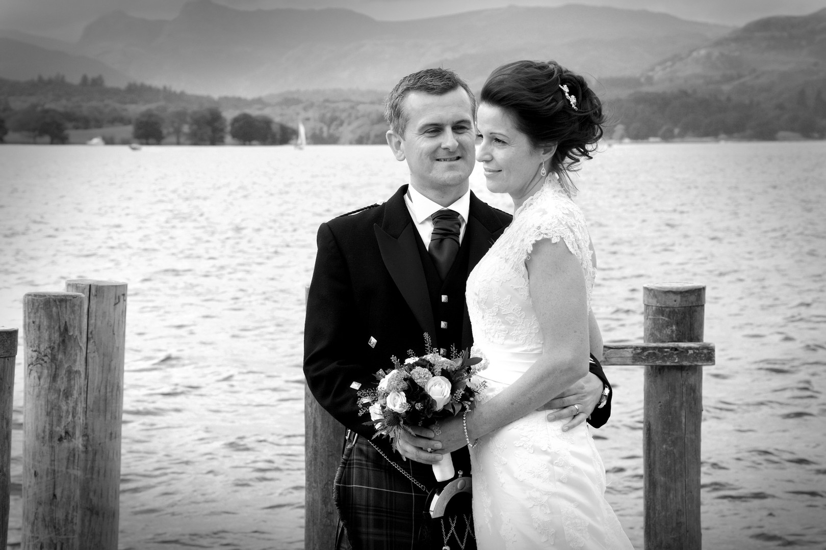 Wedding portrait in the lake district