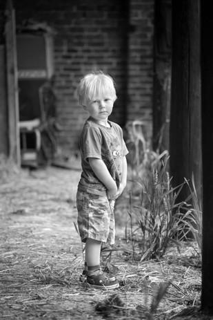 Prtrait of boy on a Farm near Driffield