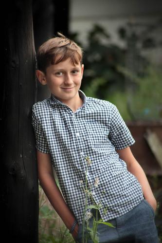 Boy's portrait on location near Hull