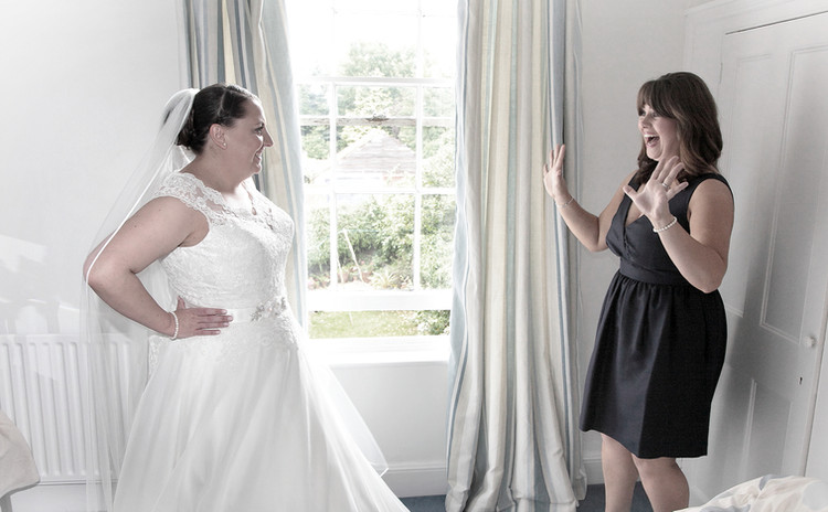 Bride and maid
