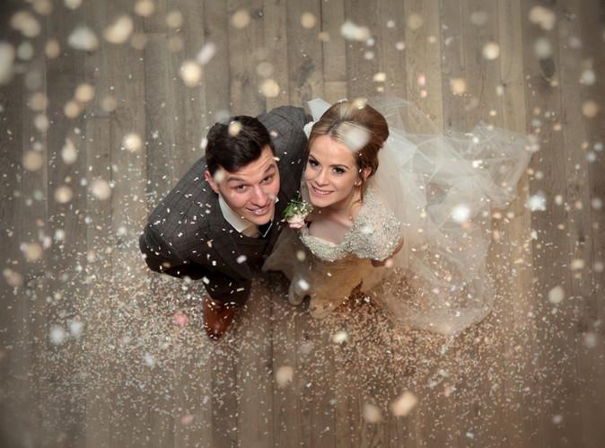 Wedding Confetti shot in Hull