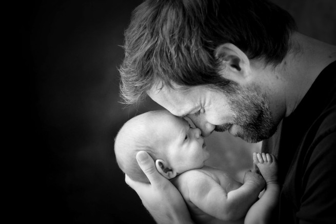 Father and baby photos in Hull