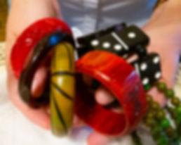 Hands Holding Bakelite Bracelets_New_Ber