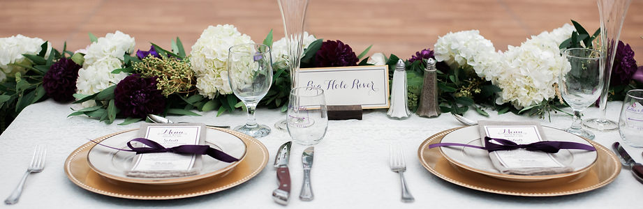 Montana Wedding Menus & Paper Products
