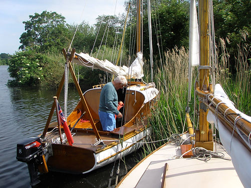 Moored in reeds