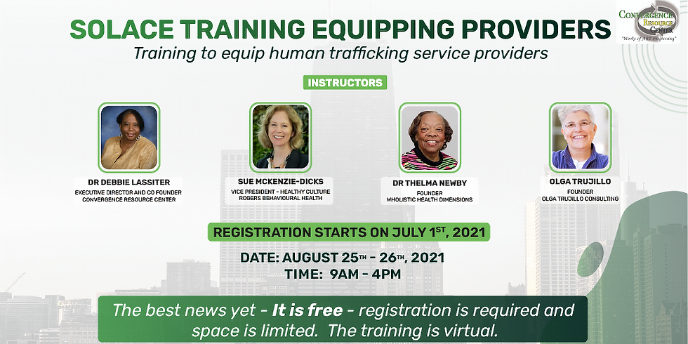 Solace Training Equipping Providers  - August