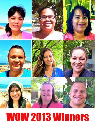 2013 Women of Wai'anae Scholarship Winners