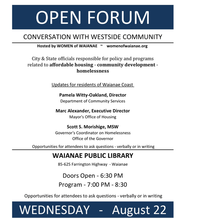 WOW Hosts Forum on Homelessness!