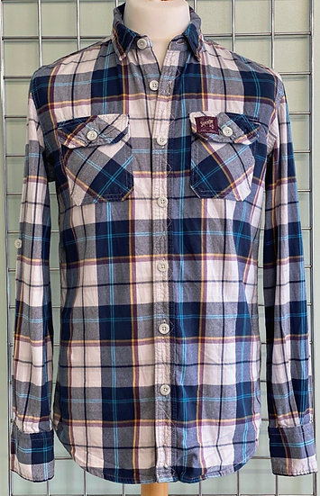Superdry Cotton Twill Long Sleeve Check Shirt M