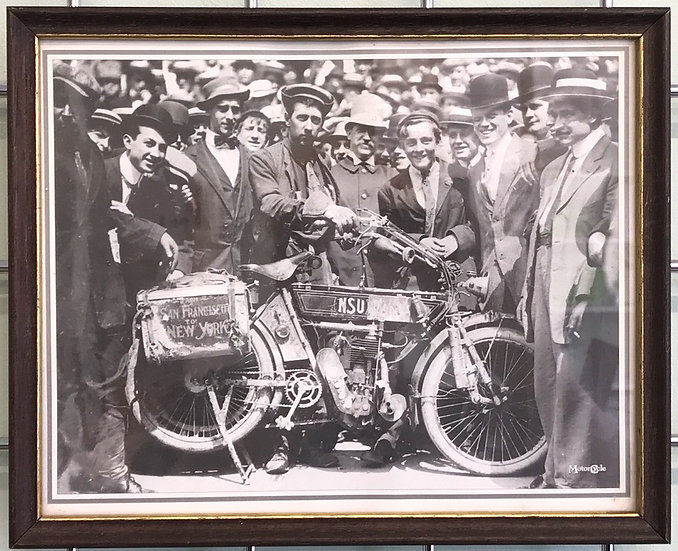Framed Classic Motor Cycle Print