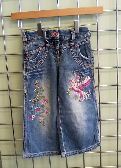 Next Wideleg Embroidered Jeans Age 3 Years