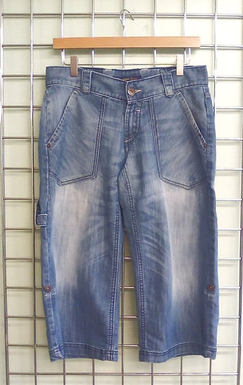 Oasis wide leg cropped jeans UK 10