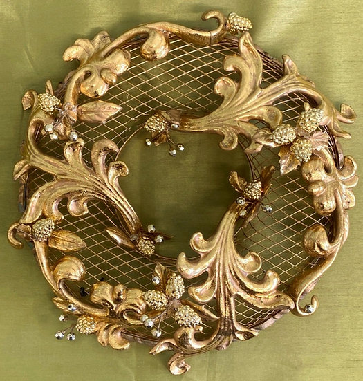 Gold Metal Hanging Wreath/ Table Centre