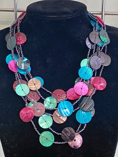 M&S Multi Coloured Disk Necklace