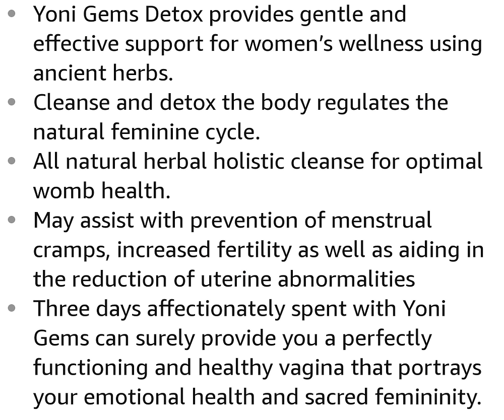 yoni gems detox pearl suppositories info