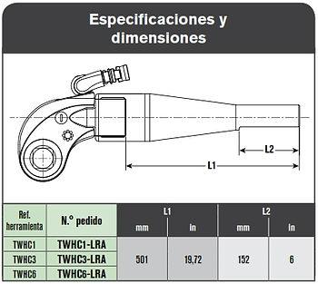 SPX TWHC Brazo de reacion Tubular