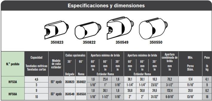 SPX separador HFS especificaciones