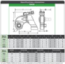 Llave de cuadradillo SPX TWSD dimensiones