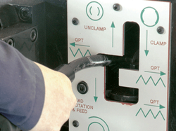 refrentadora tubo detalle de palanca