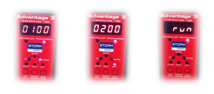 advantage 3 velocidad de bajada, fin de ciclo y run
