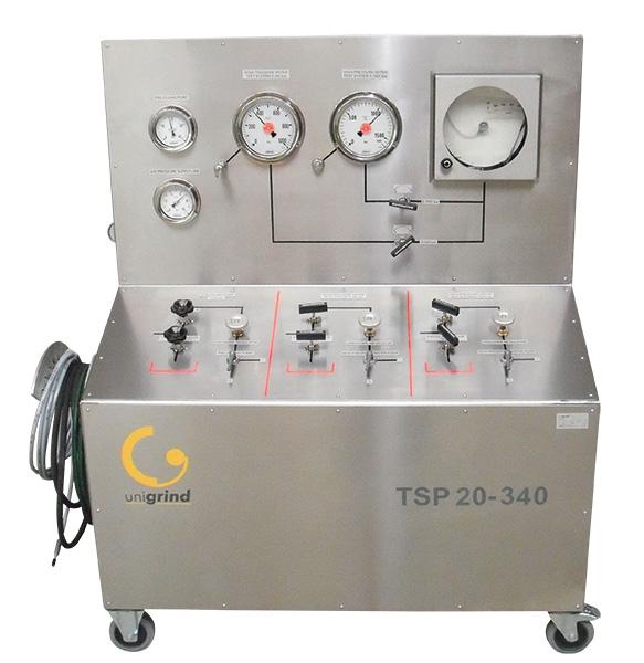 Unigrind TSP-20, prueba hidrostatica