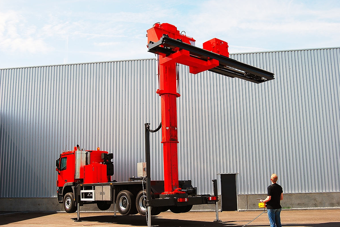extractor montado en camion