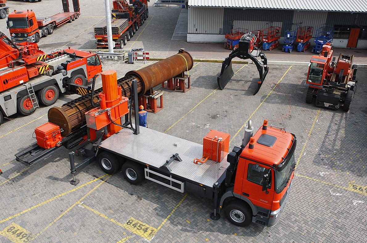 Extractor de haces sobre en camión 3