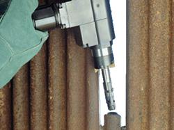 mactech ground EPL biseladora detalle del cabezal
