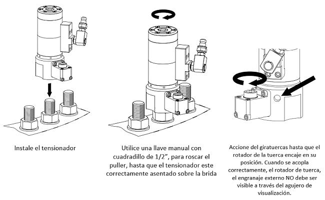 tensionador aéreo instalacion