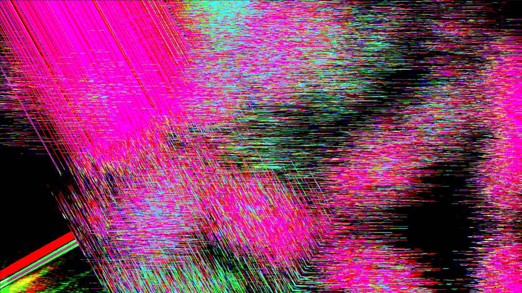 Glitch Art / Structures of Cyberspace / Waves of Simulation / The Chaotic Cohesion of Data