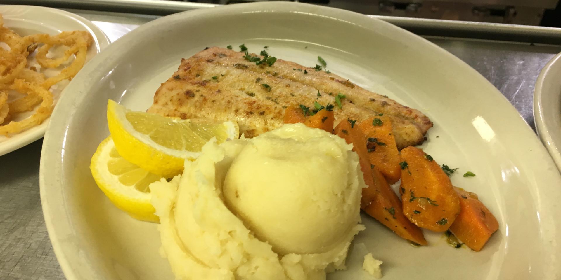 Parmesan Encrusted White Fish