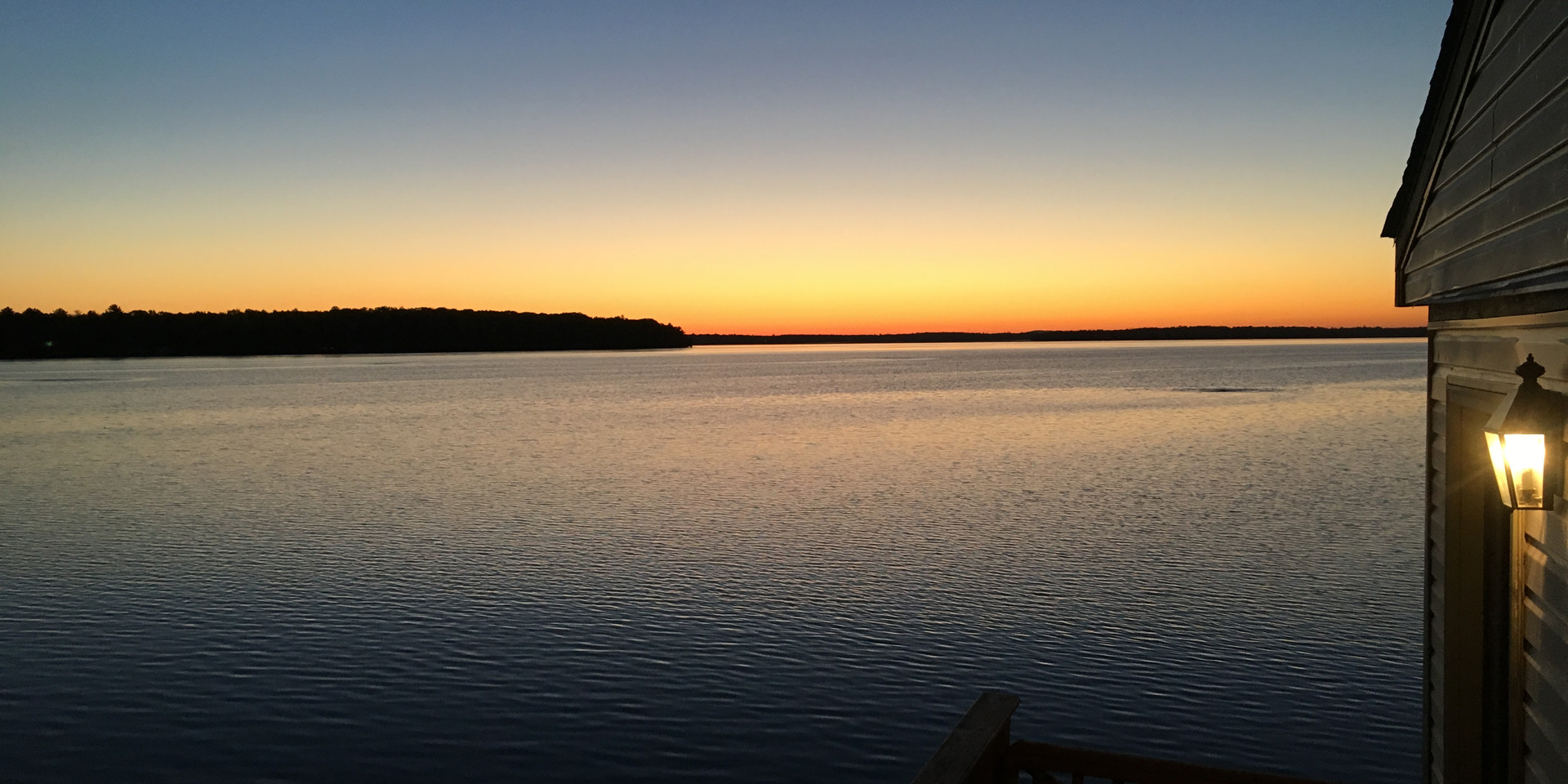 Lake view at breakfast