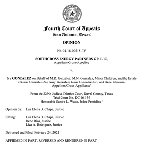 """The 4th Court declines to rule that """"hot taps"""" performed on gas pipelines are not inhere"""