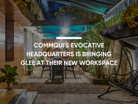 Commqui's evocative headquarters is bringing glee at their new workspace