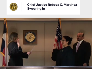 Rebeca C. Martinez sworn in as the 4th Court's new Chief Justice