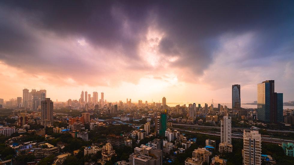 Mumbai cityscape- Dadar to Lower Parel.j