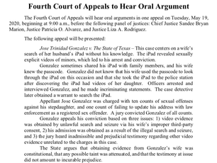 Oral Argument Advisory for May 19th & 20th (and YouTube access info)