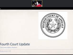Chief Justice Martinez provides first 4th Court Update of 2021