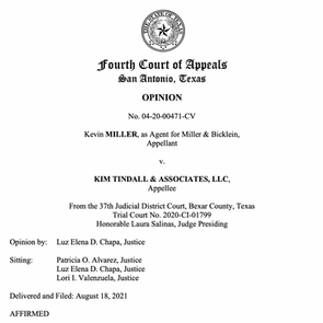 "San Antonio appeals court rules plaintiffs' attorney not a ""consumer"" under Texas DTPA"