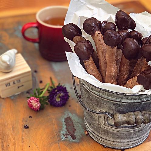 Polvilho de cacau e chocolate