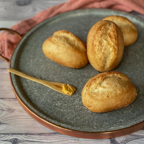Pão tipo francês com fermentação natural
