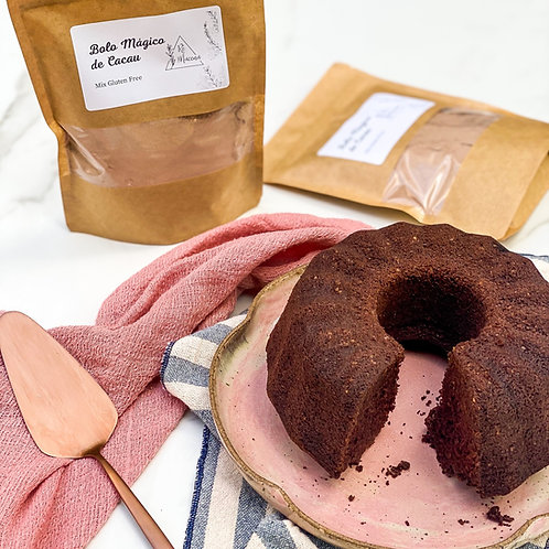 Mix gluten free para bolo mágico de cacau da Rê
