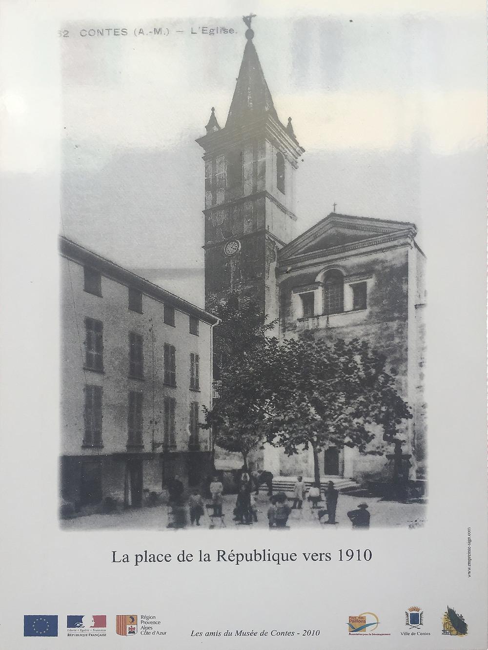 carte postale de la place de la république vers 1910