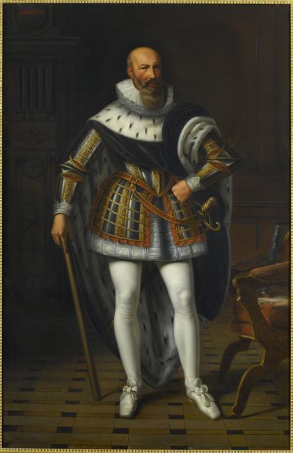 Peinture - Maximilien de Béthune, marquis de Rosny, duc de Sully (1559-1641) - représenté en 1600, de la Gourdaine Sébastien-Louis-Guillaume-Norblin  © RMN-Grand Palais (Château de Versailles) / Gérard Blot