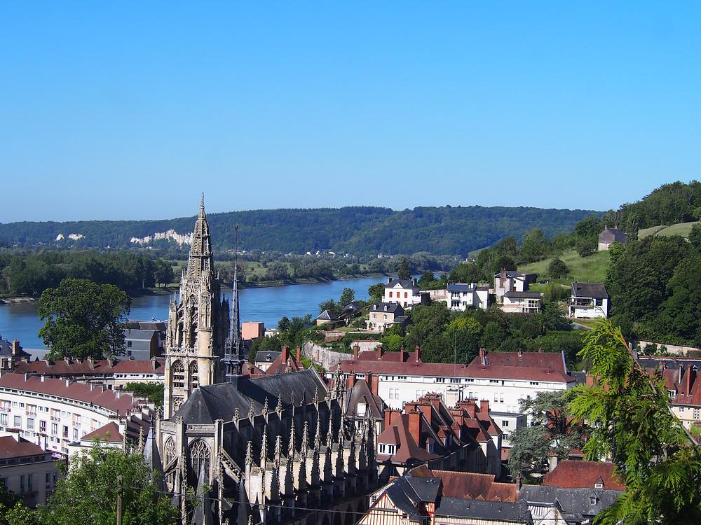 Panorama de Caudebec et la Seine
